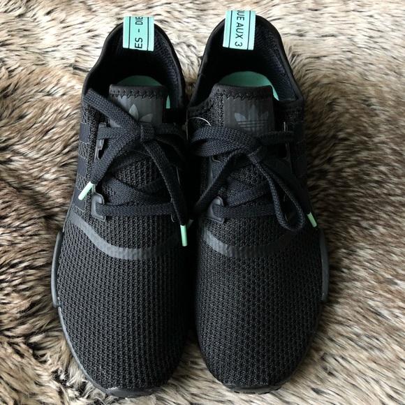 fe20cff329063 Adidas NMD R1 Women s Shoes Black Mint
